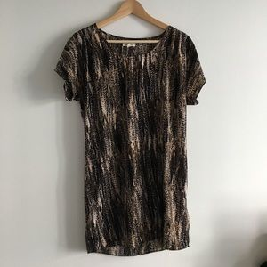 Urban outfitters animal print sheer blouse top